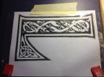 Close up on the Celtic font pattern
