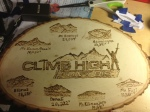 Climb High Don't Die! A birthday gift for my uncle, a mountain climber who scaled all the major mountains listed on this board, and more.