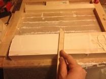 smooth iout glue with a thin card or thin scrap