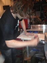 Travis sanding boards