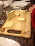 Any cutting board's dream: to have the finest parmesan and mustard